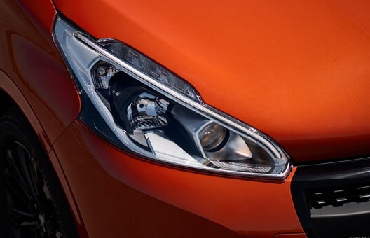 208 gti red headlight