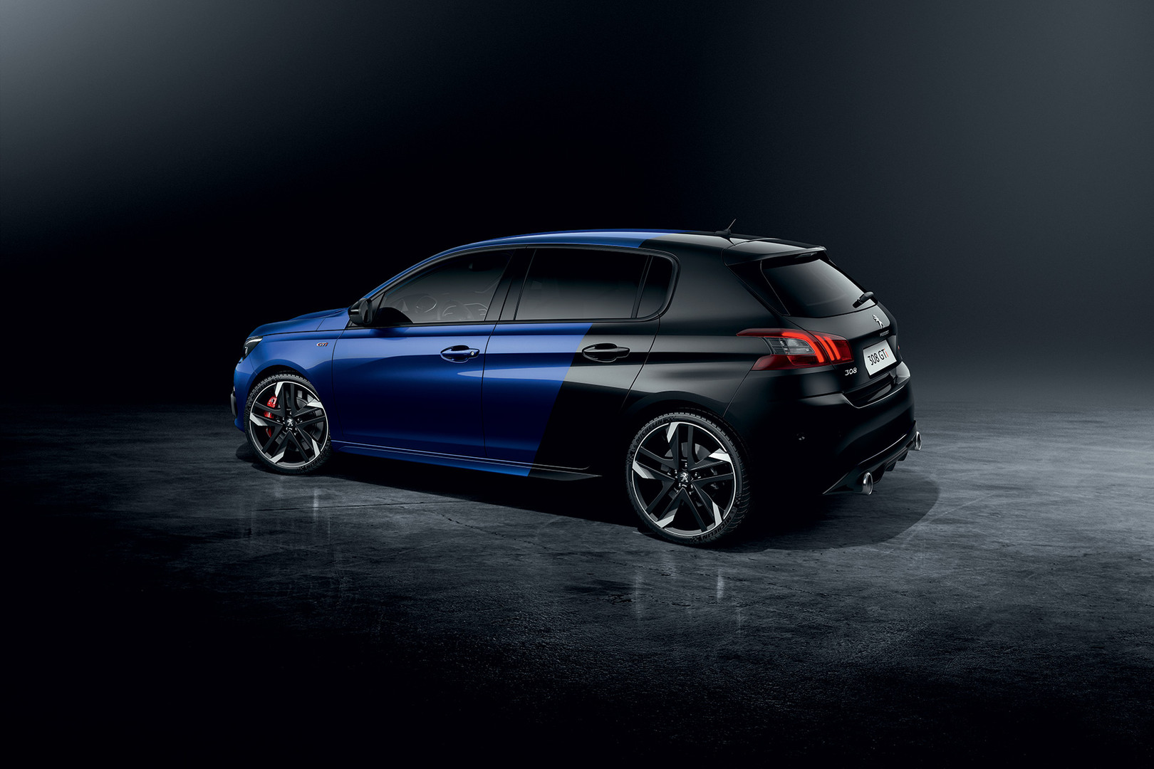 peugeot 308gti blue and black