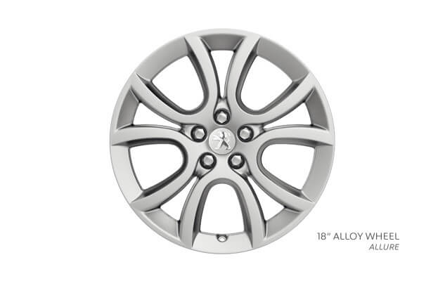 Silver 18 inch alloy wheel