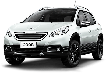 White Peugeot 2008 home vehicle range