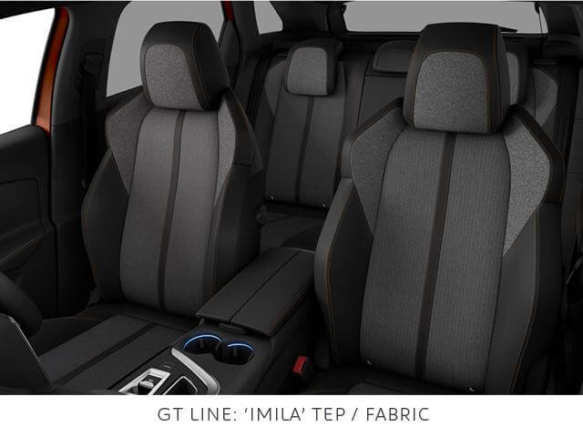 Peugeot 3008 SUV GT line tep cloth trim