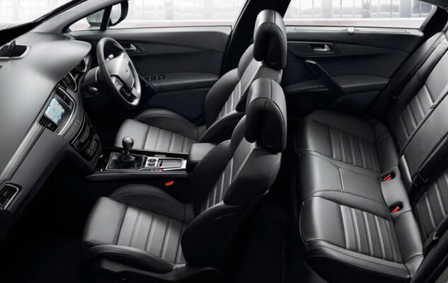 Peugeot 508 saloon black interior