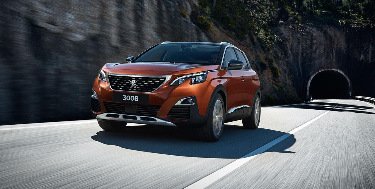 red peugeot 3008